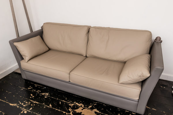 200 French Leather Sofa